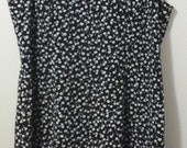 Black and White Dandelion Sleeveless Sheath Dress - 2X