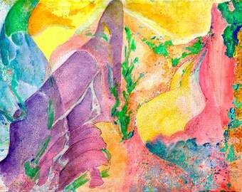 Purple  - Tintas, Watercolor, Vintage, Spain