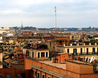 Panorama : Rome from the Spanish Steps