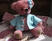 Bluebell, 5 inch mohair artist bear
