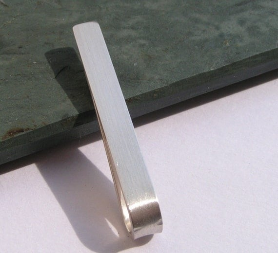 Brushed Sterling Tie Bar