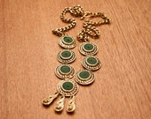 RESERVED Green and Golden Aztec Boho Chain