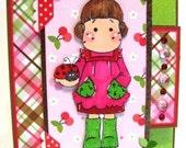 Handmade Tri-Fold Shutter Card - Ladybug Tilda