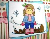 Winter Joy - 6X6 Square Handmade Card