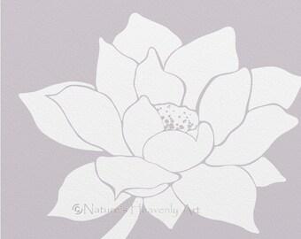 8 x 10 Lotus Flower Art, Living Room Print, Floral Botanical Wall Art Print, Flower Bloom Wall Decor (52)