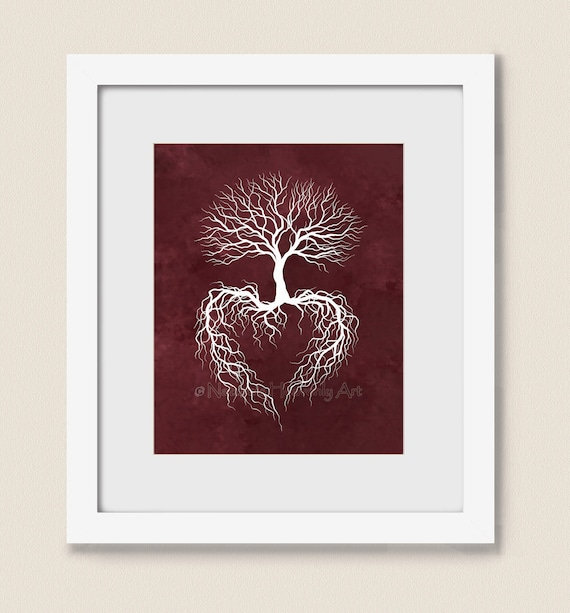 Tree Root Wall Decor : Print winter tree roots wall art by naturesheavenlyart