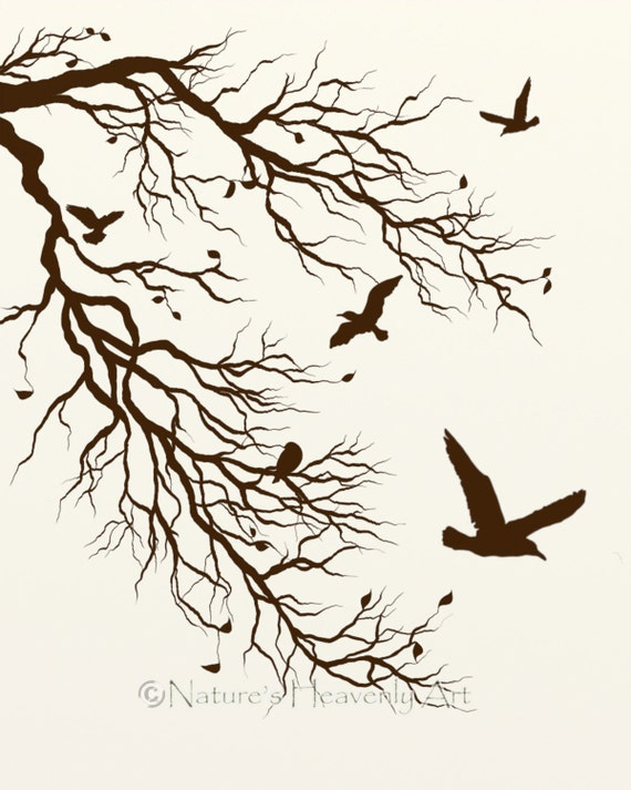 Flying Bird Wall Decor Print Out