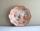 Vintage Porcelain Asian Dish