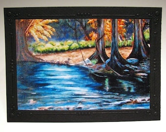 Texas Hill Country Photo Card - Of My Original Art Work-FREE SHIPPING