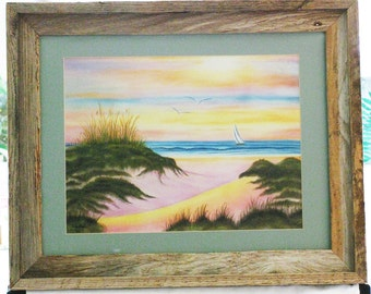 Serenity Beach Giclee Print, Matted-Framed Beach Giclee Print, Framed Beach Giclee Print