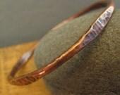 Hammered Copper Bracelet - Copper Bangle - Boho Jewelry - Arthritis Bangle - Hammered Bracelet - Women's Jewelry - Burnished Elements