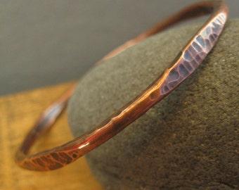 Hammered Copper Bracelet - Copper Bangle - Boho Jewelry - Arthritis Bangle - Hammered Bracelet - Women's Jewelry - Men's Bracelet