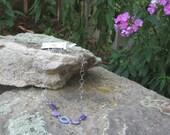 Necklace for your bridesmaids, purple crazy lace agate stones