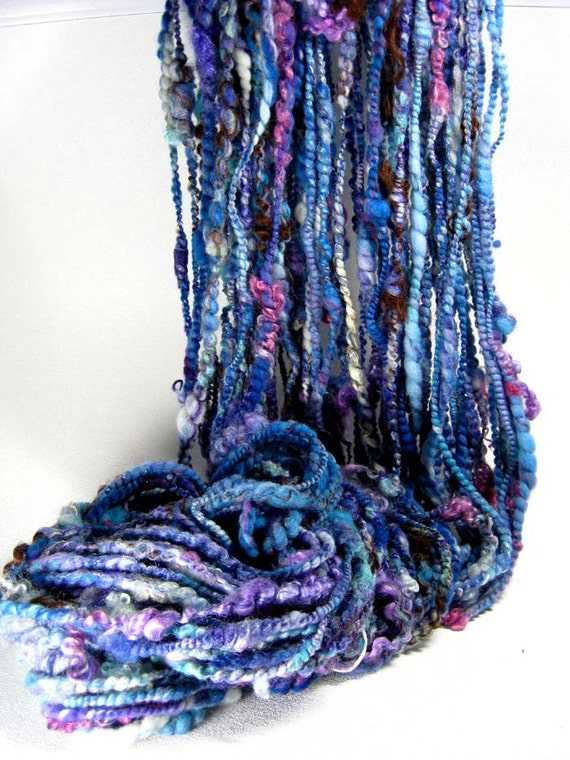 Aquatic Handspun Art Yarn 4 ounces