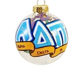 Very Small Handpainted Alpha Delta Pi Ornament