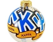 Very Small Handpainted Kappa Kappa Psi Ornament