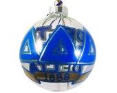 Handpainted Delta Delta Delta Holiday Ornament