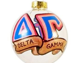 Very Small Handpainted Delta Gamma Ornament