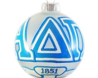 Large Alpha Delta Pi Holiday Ornament