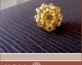 Gold Berry Beaded Pendant - Lilo Pohaku (Lost Stones)