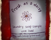 Fresh as a Daisy Homemade Laundry Detergent Sample: Free Shipping