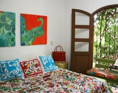 Otomi Coverlet Duvet Custom Order We will find your special piece and create a duvet for you