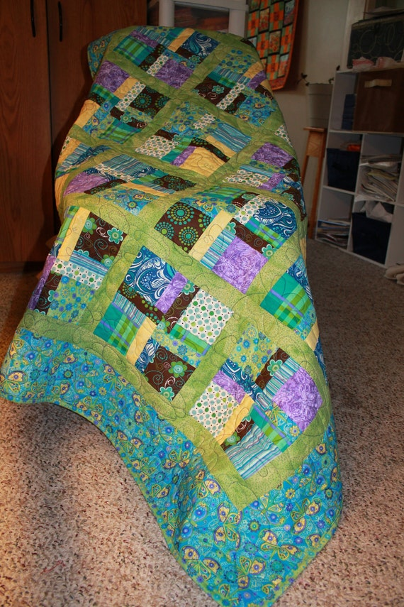 Greta in Blues & Butterflies Lap Quilt