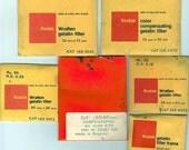 Wratten Gel Filters Lot of 6/ 5 filter packs and 1 50mm filter frame