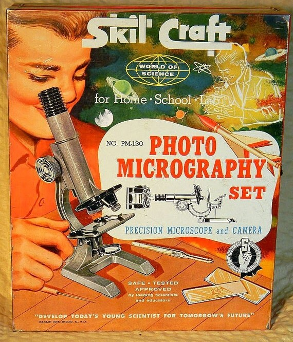 Skil Craft Photomicrography 1959 Set Falcon Camera