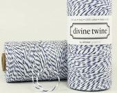 Divine Twine - 3 yards - Navy Blue / White
