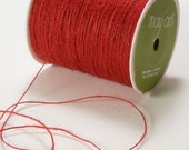 3 yards Rustic Jute Twine in Red