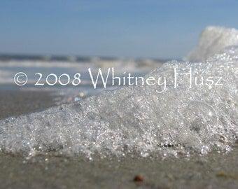 Mermaid Ashes Sea Foam Beach Photograph FREE ooak bookmark with purchase
