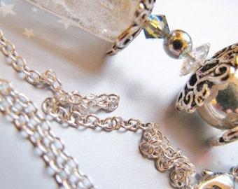 Pure Celebration - Sparkling Silver and White Princess Necklace