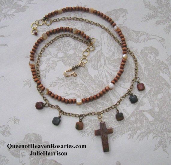 Cross Necklace - Jasper & Brass