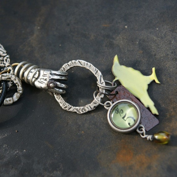 hang on to my charms industrial chic necklace