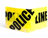 Police Line Do Not Cross Caution Tape Wallet