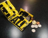Urban Hazard Caution Tape Wallet with Change Pocket