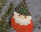 DIY Printable Santa Xmas Ornaments - Gift Tags - INSTANT DOWNLOAD - Digital Collage Sheet pdf