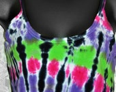 Ladies  Tie dye Tank Top, great for workout, yoga, beach, summer days