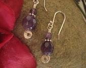 Alluring Amethyst earrings