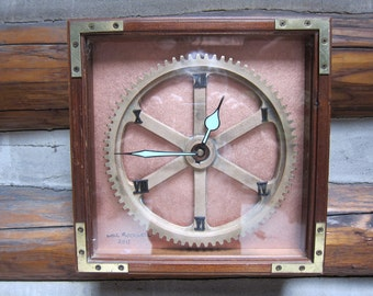 Steampunk Brass Gear Clock