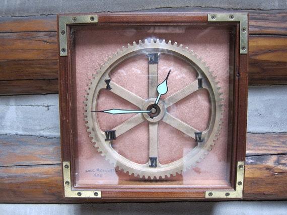 Steampunk Brass Gear Clock