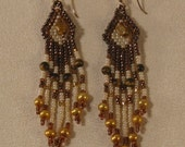 Beaded Tigereye Earrings with Cultured Pearls and 14K Gold-Filled