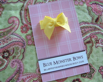 ONE DOLLAR CLIP Lemon Yellow Mini Baby Bow No Slip