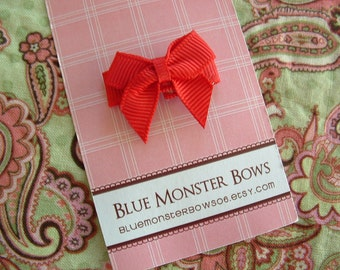 ONE DOLLAR CLIP Red Mini Baby Bow Snap Clip Free Shipping On Additional Items
