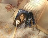 Night Spirits - Handmade laminated bookmark