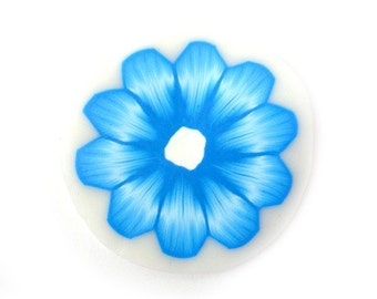 Polymer Clay Cane Millefiori Flower in Turquoise