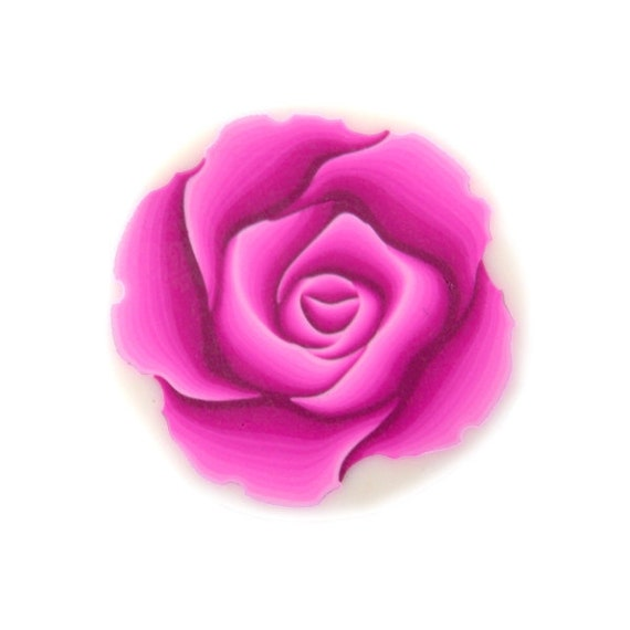 Rose Cane Polymer Clay Cane Millefiori Magenta Rose Cane