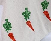 Tea Towel, Hand Printed Carrots