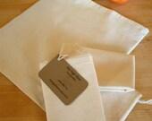 Reusable Produce or Bulk Food Bags, US Grown Organic Cotton, Set of 3